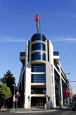 Partial view, Willy-Brandt-Haus building, SPD headquarters, capital Berlin, Germany, Europe