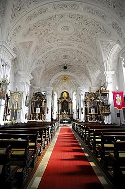 Interior, Pilgrimage Church of Hohenstadt, Abtsgmuend-Ostalbkreis district, Baden-Wuerttemberg, Germany, Europe