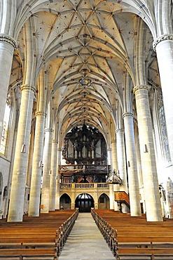 Interior, Heilig-Kreuz-Muenster minster, Schwabisch Gmund, Baden-Wuerttemberg, Germany, Europe