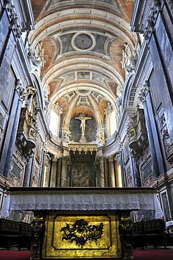 Interior of the Basilica Se Catedral de Nossa Senhora da Assuncao cathedral, Evora, UNESCO World Heritage Site, Alentejo, Portugal, Europe
