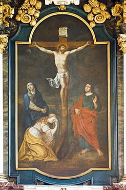 Altarpiece, church of the Beguinage, Unesco World Heritage Site, Sint-Truiden, Belgium, Europe
