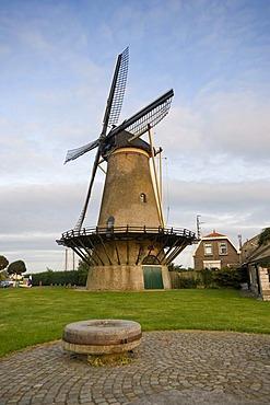 Windmill, Zierikzee, Zeeland, Holland, Netherlands, Europe