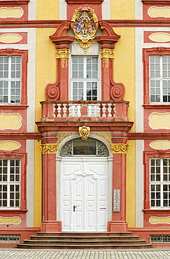 Entrance of a side building, now district court, Schloss Bruchsal Palace, prince-bishop's residence, Bruchsal, Baden-Wuerttemberg, Germany, Europe
