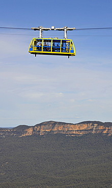Scenic Skyway cable car from the Scenic World Complex in front of Jamison Valley, Blue Mountains National Park, New South Wales, Australia