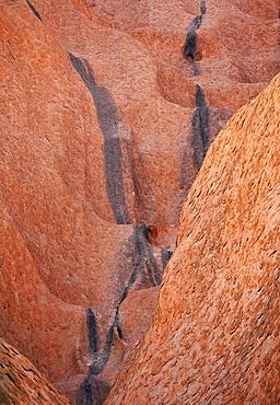 Rock wall, Uluru, Ayers Rock, Uluru-Kata Tjuta National Park, Northern Territory, Australia
