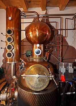 Brandy distillery, house distillery, Berg-Gasthof Kernhof mountain inn, Seebach, Black Forest, Baden-Wuerttemberg, Germany, Europe