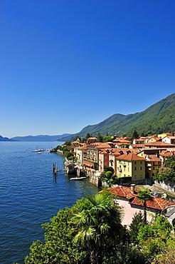 Townscape, Lake Maggiore, Cannero Riviera, Piedmont, Italy, Europe
