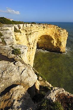 Cliffs at Praia Do Carvalho, Carvalho Beach, Carvoeiro, Lagoa, Algarve, Portugal, Europe