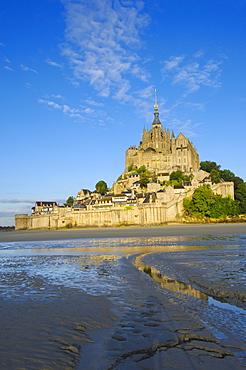 Mont-Saint-Michel, Benedictine abbey, Normandy, France, Europe