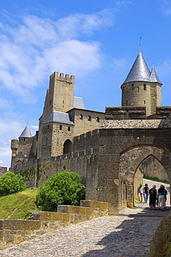 La Cite, Carcassonne medieval fortified town, Aude, Languedoc-Roussillon, France, Europe