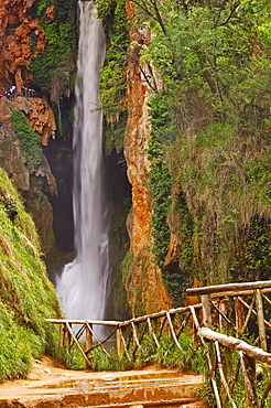 """Piedra River, """"Cola de Caballo waterfall"""" at Monasterio de Piedra, Nuevalos, Zaragoza province, Aragon, Spain, Europe"""