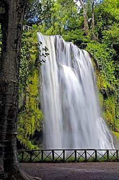 Piedra River, waterfall at Monasterio de Piedra, Nuevalos, Zaragoza province, Aragon, Spain, Europe