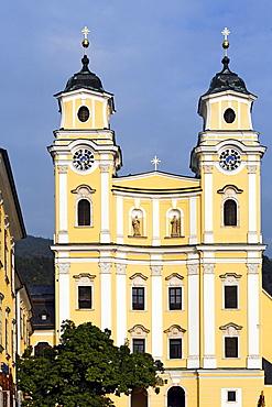 Former abbey church of St. Michael, Basilica minor, Salzkammergut region, Upper Austria, Austria, Europe