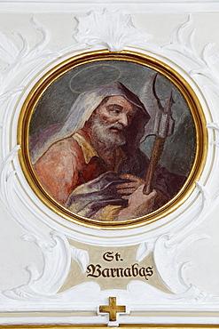 Apostle St. Barnabas, painting by Angelica Kauffmann, Parish Church in Schwarzenberg, Bregenz Forest, Bregenzerwald, Vorarlberg, Austria, Europe