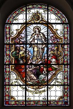 Church windows in pilgrimage church, Sanctuary of the Visitation, Rankweil, Vorarlberg, Austria, Europe