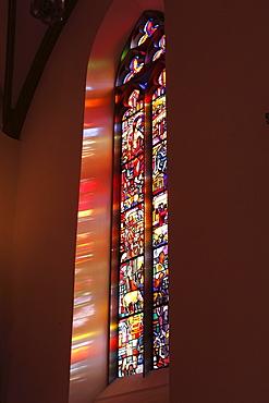 Stained glass windows, St. Nicholas Cathedral, Feldkirch, Vorarlberg, Austria, Europe