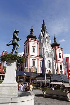 Erzherzog-Johann-Statue, Archduke Johann statue, pilagrimage church, Basilica of Mariazell, Styria, Austria, Europe