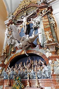Altar of the Poor Souls in Mariahilfberg Pilgrimage Church, Gutenstein, Lower Austria, Austria, Europe