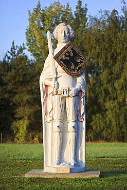 Roland statue of the Roland town Bremen in the Rolandpark, Belgern, North Saxony, Saxony, Germany, Europe
