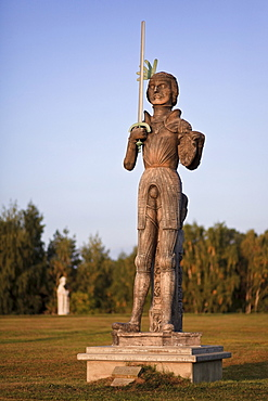 Roland statue of the Roland town Stendal in the Rolandpark, Belgern, North Saxony, Saxony, Germany, Europe