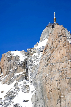 Summit of the Aiguille Du Midi, Chamonix, Mont Blanc Massif, Alps, France, Europe
