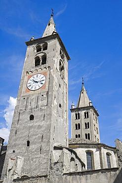 Aosta Cathedral, La Cattedrale di Aosta, Piazza Giovanni XXIII, Aosta, Aosta Valley, Valle d'Aosta, Italy, Europe
