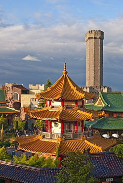 Phantasialand, theme park Chinatown with the attraction MYSTERY CASTLE, Bruehl, Nordrhein-Westfalen, Germany, Europe