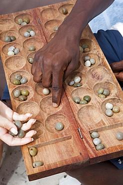 African board game, Zanzibar, Tanzania, Africa