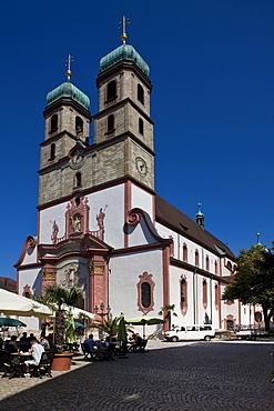 Fridolin Minster, cathedral square, Bad Saeckingen, Waldshut district, Baden-Wuerttemberg, Germany, Europe