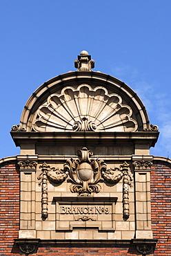 Decorative gabled roof, around 1900, Belmont Street, Swadlincote, South Derbyshire, England, UK, Europe