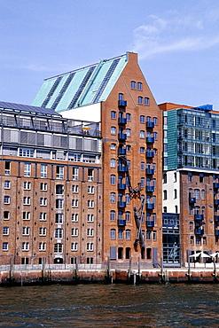 Former warehouse on the Elbe river, Altona, port of Hamburg, Hanseatic City of Hamburg, Germany, Europe