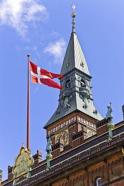 The tower at Copenhagen city hall, Copenhagen, Denmark, Europe