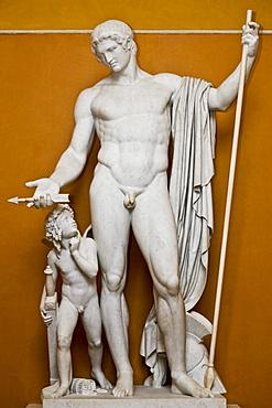 Sculpture of Mars and Cupid at Thorvaldsens Museum in Copenhagen, Denmark, Europe