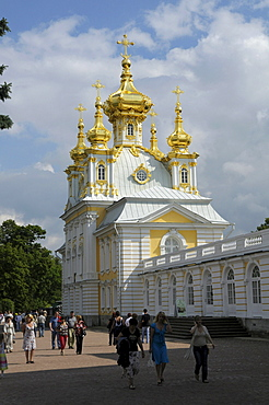 Castle Church, Peterhof, Petrodvorez, Saint Petersburg, Russia, Europe