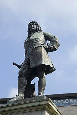 Monument to Handel, Halle an der Saale, Sachsen-Anhalt, Germany, Europe