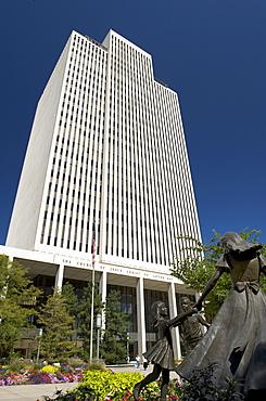 Administration building of the Church of Jesus Christ of Latter-day Saints, Salt Lake City, Utah, USA