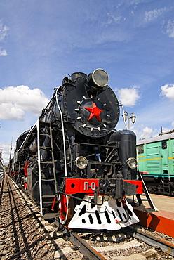 Soviet steam locomotive P-0001 Pobeda Victory, built in 1945