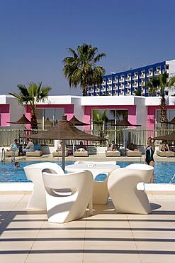 Napa Mermaid Hotel, modern designer hotel, pool, Agia Napa, Cyprus, Greece, Europe