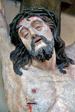 Way of the Cross in front of the Piaristenkirche Church in Krems, Wachau, Waldviertel, Lower Austria, Europe