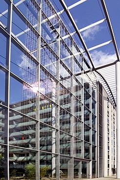 Modern high-rise office complex, skyscraper Uptown Munich, second-tallest building in Munich, Georg-Brauchle-Ring, Munich, Bavaria, Germany, Europe