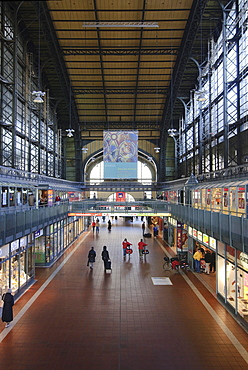 Hall of the central station of Hamburg, Germany, Europe