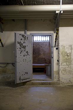Prison cell, Berlin-Hohenschoenhausen memorial, former prison of the GDR's secret service, Berlin, Germany, Europe