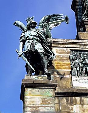 The War Statue, Niederwald Denkmal monument near Ruedesheim, Hesse, Germany