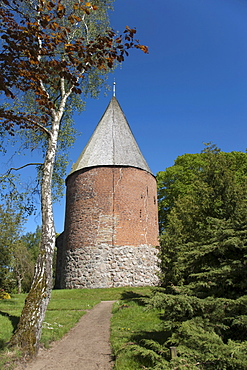 Kosel church with rare round tower, Schleswig-Holstein, northern Germany, Germany, Europe