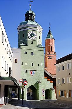 Oberes Tor, Upper Gate, Vilsbiburg, Lower Bavaria, Bavaria, Germany, Europe