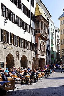 """Goldenes Dachl, """"Golden Roof"""", historic town, Innsbruck, Tyrol, Austria, Europe"""