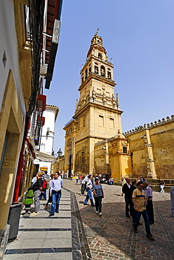 Former minaret, Mezquita, former mosque, now cathedral, Cordoba, Andalusia, Spain, Europe