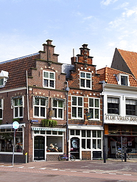 Street corner, Haarlem, Holland, Netherlands, Europe