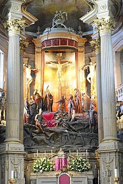 Altar of the pilgrimage church Bom Jesus, pilgrimage site, Braga, North Portugal, Europe