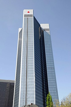 Trianon skyscraper, skyline, Westedn district, banking quarter, Frankfurt/Main, Hesse, Germany, Europe